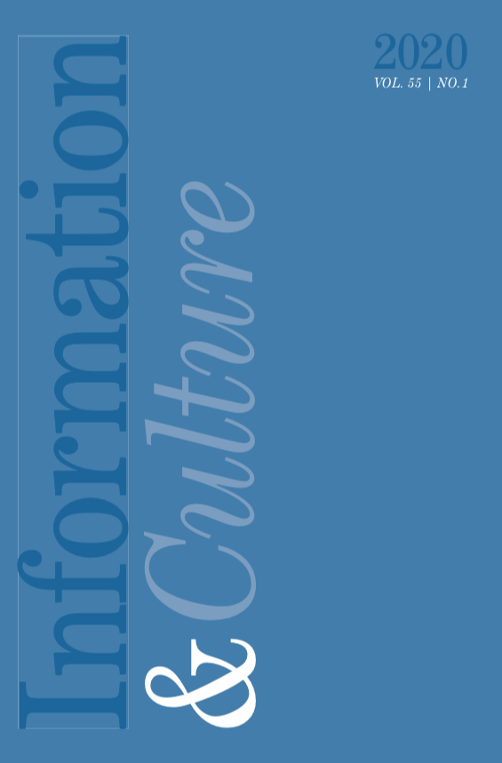 Cover of the 2020 Information and Culture journal volume 55