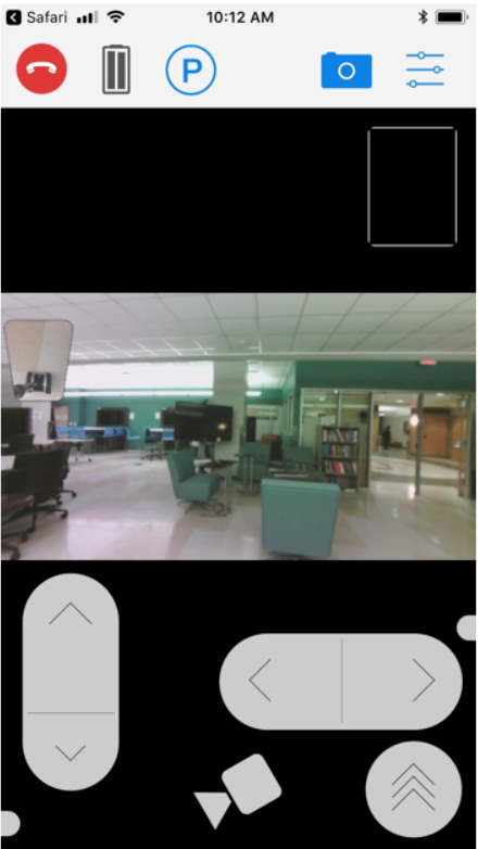 view of iphone interface