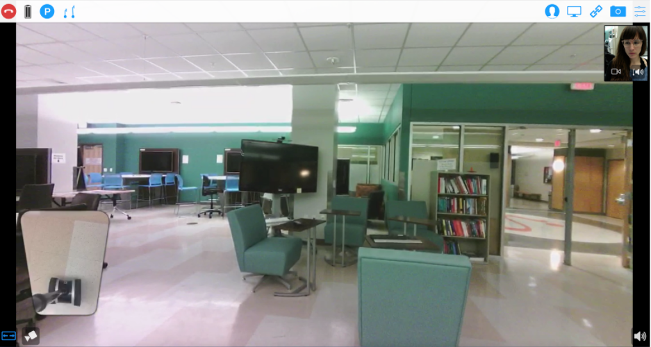 Image that the robot sees in the IT Lab.