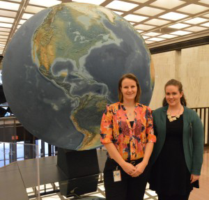 Laura Fry and Megan Martinsen at the Library of Congress