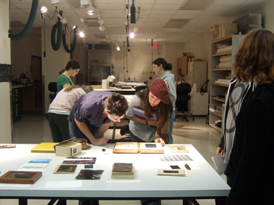 Students In The Conservation Lab