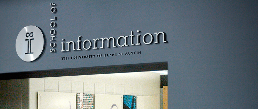 Image of School of Information Sign
