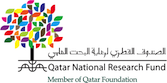 """qatar national research logo"""