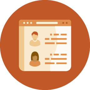 Illustration of student profiles on a web page