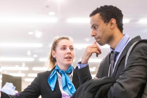 An employer makes introduction to a student