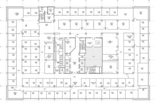 Floor plan map of the fifth floor of the UTA building