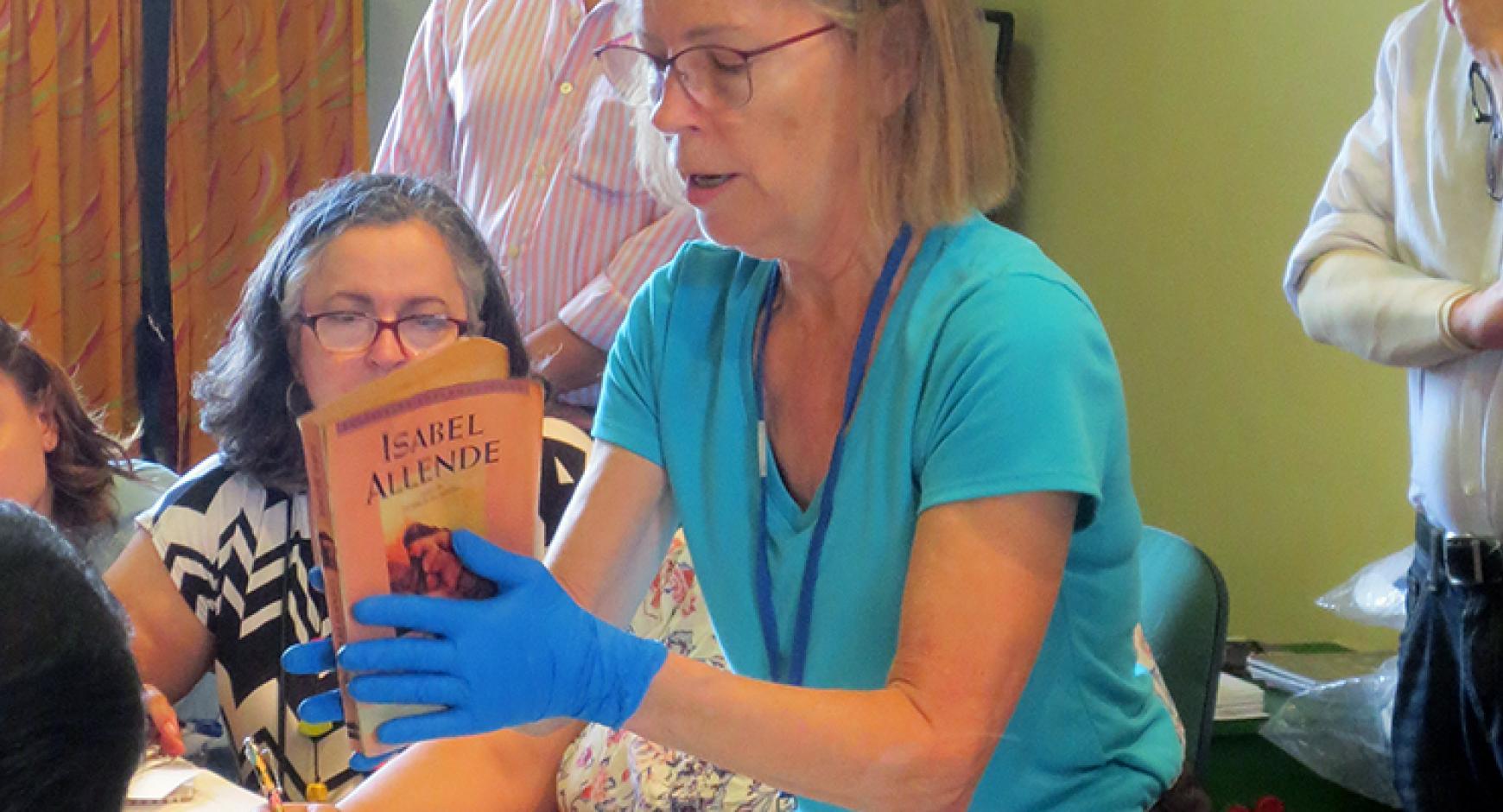 """Karen Pavelka leading a workshop in Puerto Rico"""