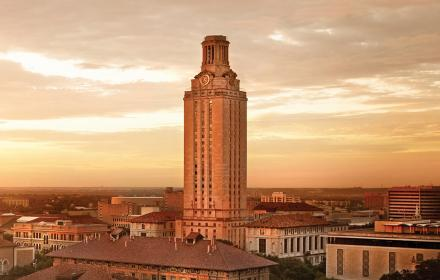 UT Tower in sunset