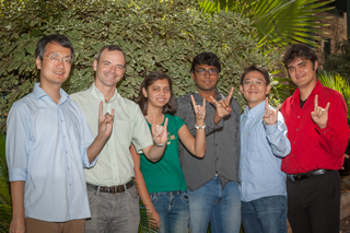 Professor Matt Lease with students of the Information Retrieval Lab