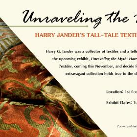 Harry G. Jander Exhibit Ad