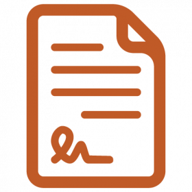 Icon of signed paper contract